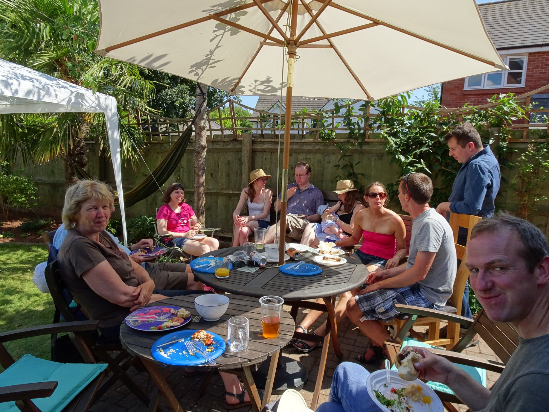 Branch members at the 2018 summer barbecue